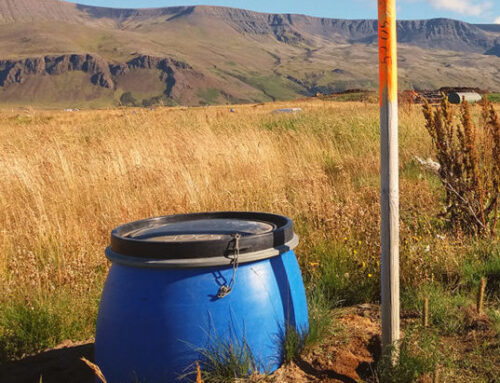 Landfill gas collection operation in Reykjavík